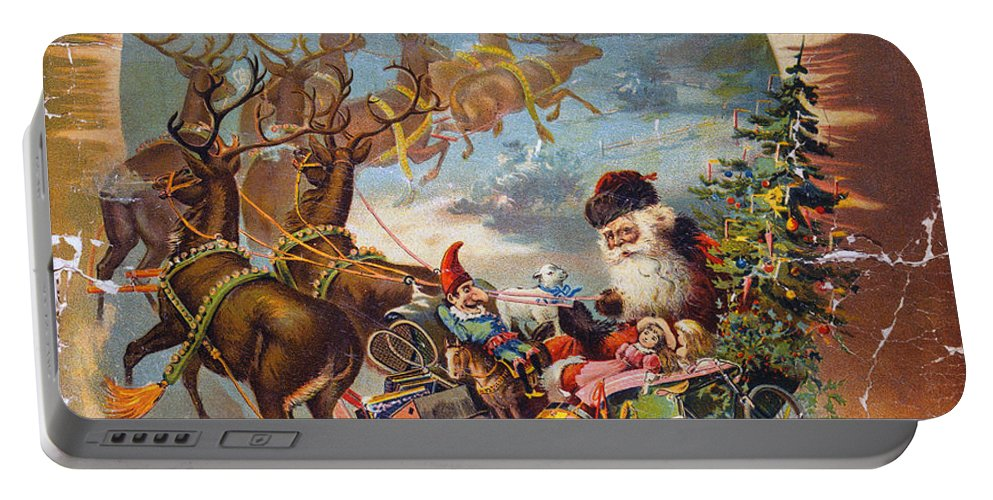 1896 Portable Battery Charger featuring the photograph Night Before Christmas by Granger