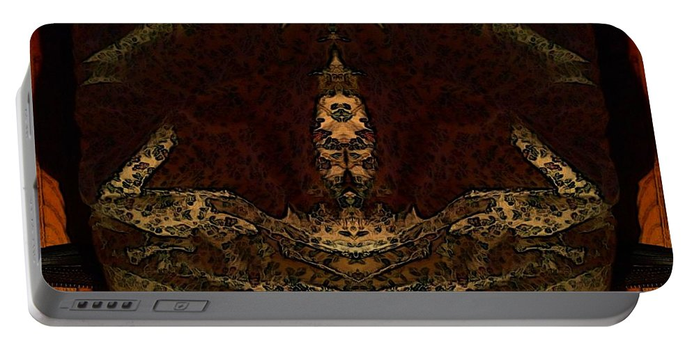 Beadspread Portable Battery Charger featuring the digital art Night Comforter by Ron Bissett