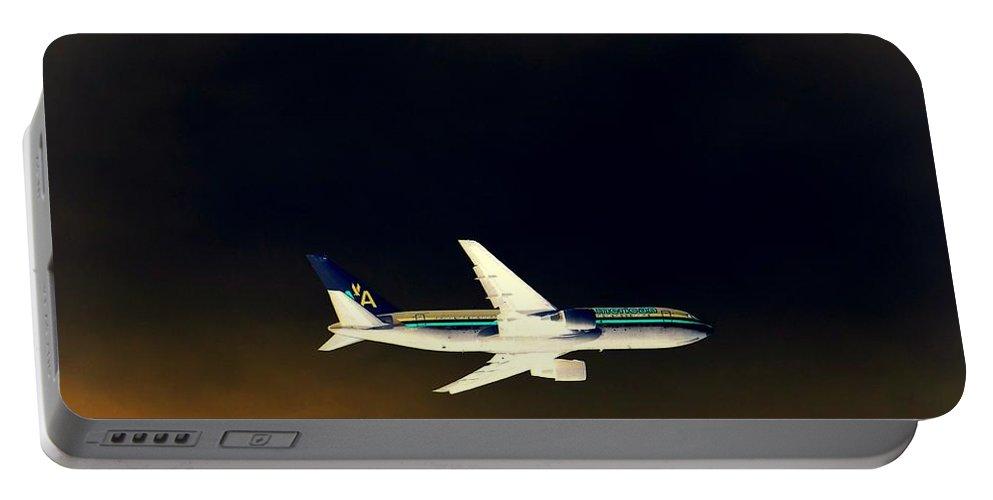 Pop Art Portable Battery Charger featuring the photograph Night Flight by Ed Weidman