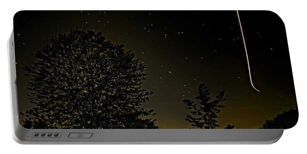 Night Sky Portable Battery Charger featuring the photograph Night Flight by Steve Harrington
