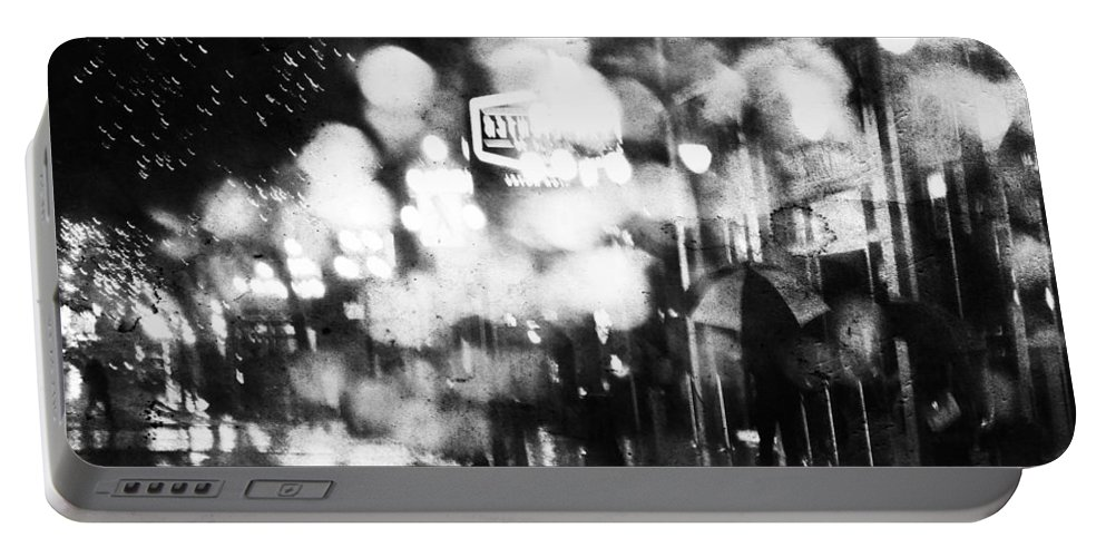 Street Photography Portable Battery Charger featuring the photograph Night Life by The Artist Project