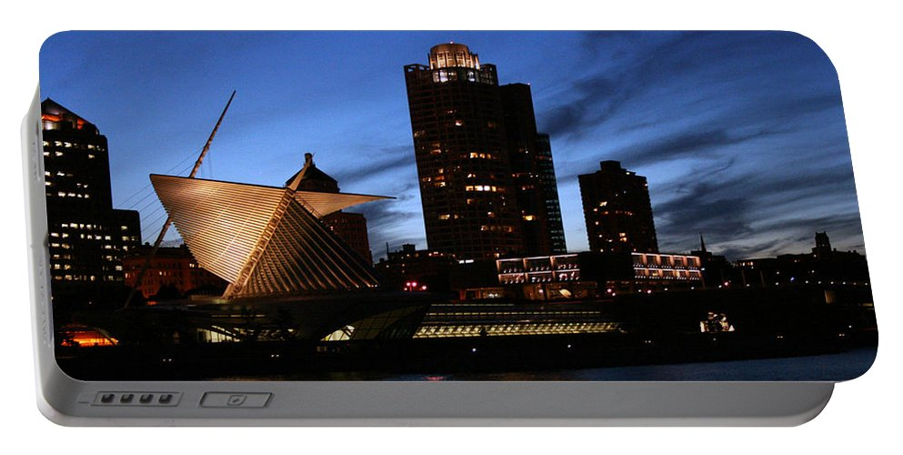 Night Portable Battery Charger featuring the photograph Night Lights by Susan McMenamin