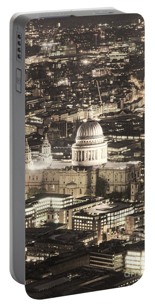 London Portable Battery Charger featuring the photograph Night View Over St Pauls by Jasna Buncic