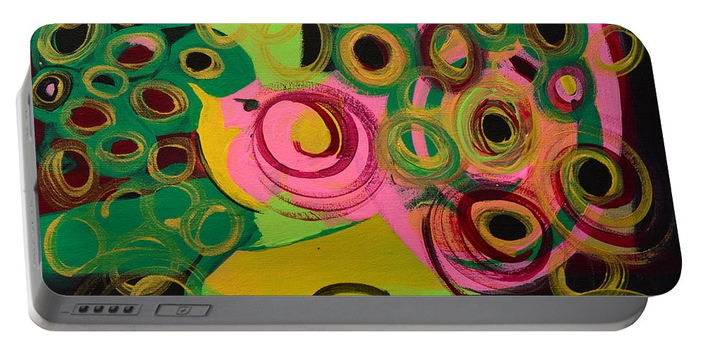 Bird Portable Battery Charger featuring the painting Nightbird by Donna Blackhall