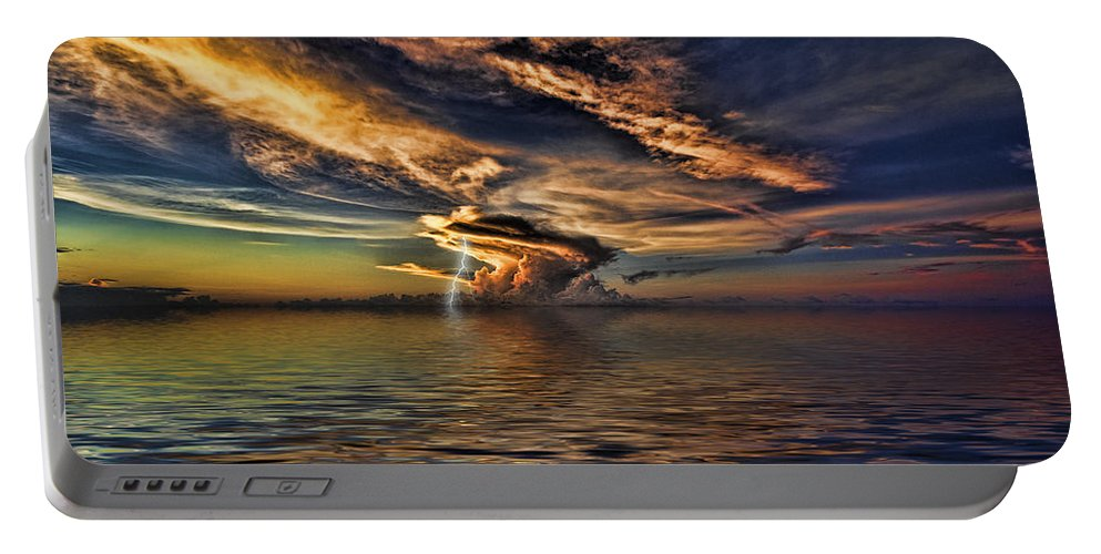 Nightcliff Portable Battery Charger featuring the photograph Nightcliff Pop V2 by Douglas Barnard