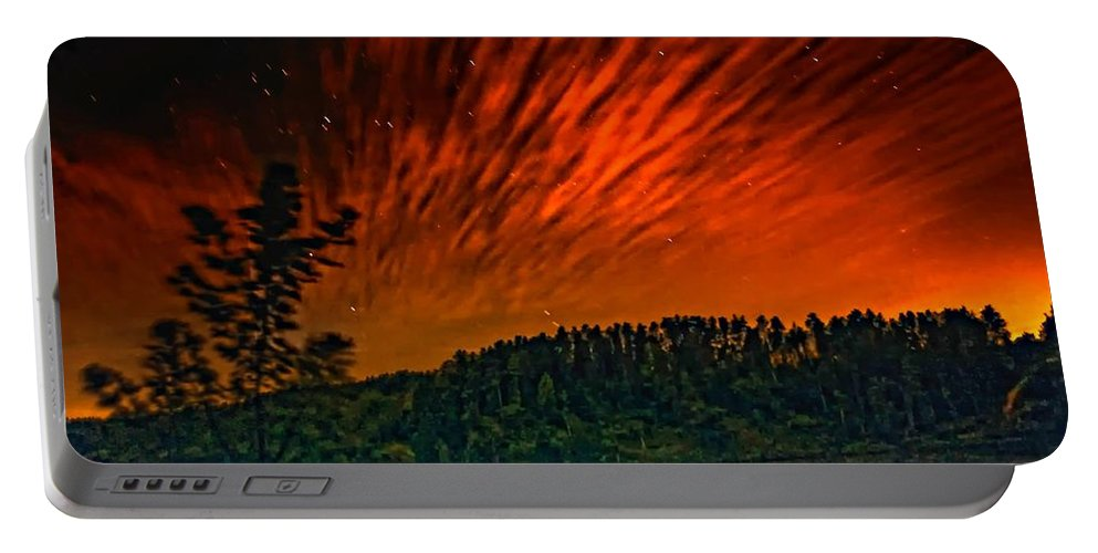 Landscape Portable Battery Charger featuring the photograph Nightfire by Steve Harrington
