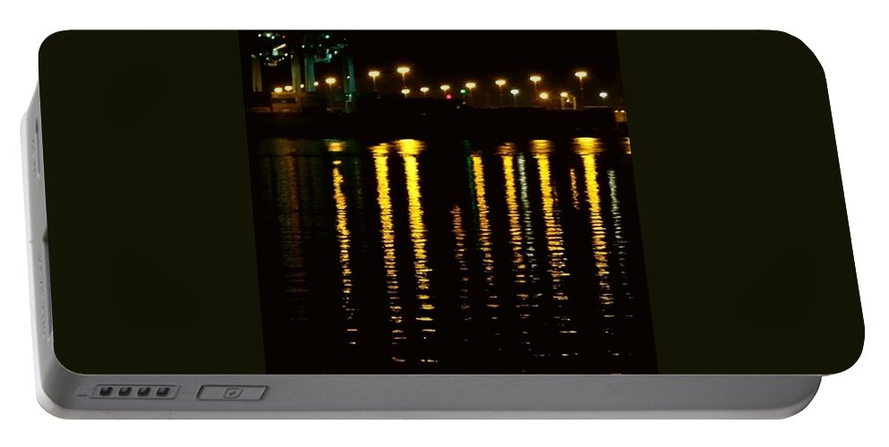 Reflections Portable Battery Charger featuring the photograph Nightime Reflections by Kathleen Odenthal