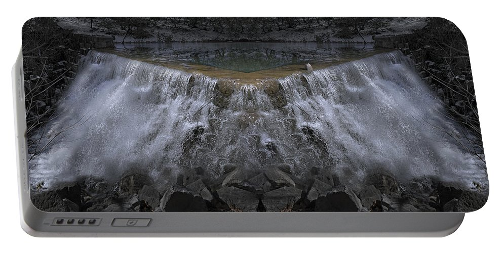 Waterfall Portable Battery Charger featuring the photograph Nighttime Water Tumble by Betsy Knapp
