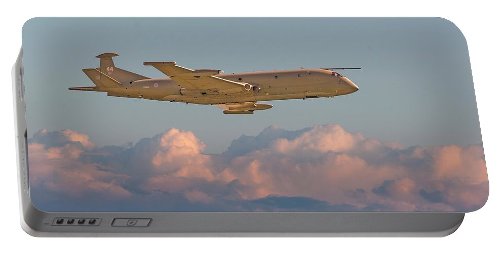 Aircraft Portable Battery Charger featuring the photograph Nimrod - Maritime Patrol Aircraft by Pat Speirs