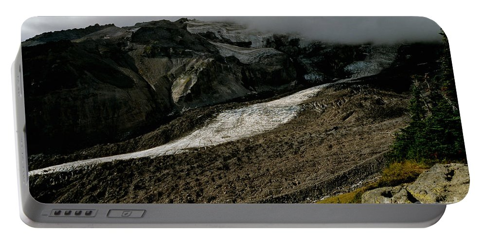 Mount Rainier Portable Battery Charger featuring the photograph Nisqually Glacier by Sharon Elliott
