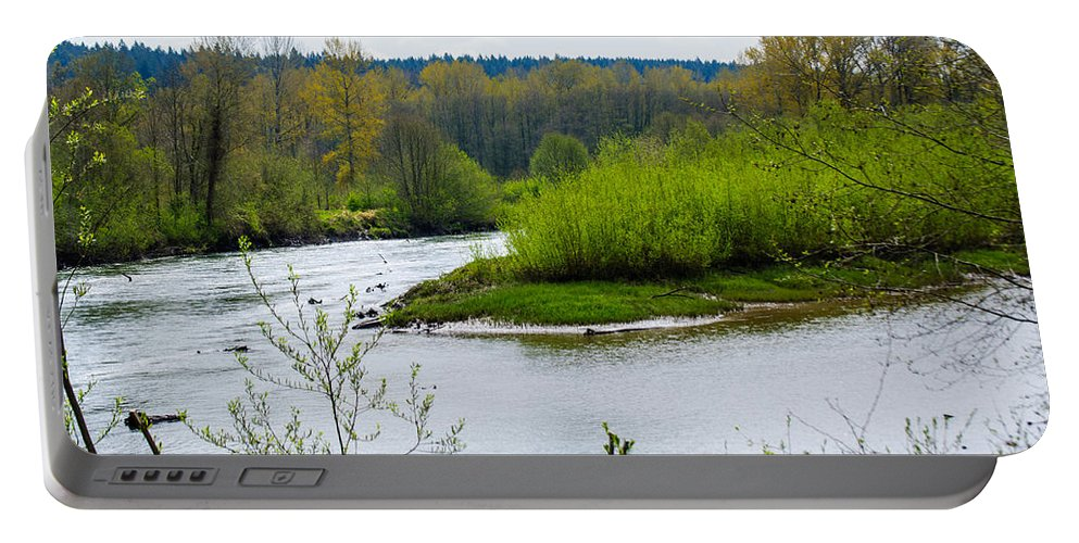 Nisqually National Wildlife Refuge Portable Battery Charger featuring the photograph Nisqually River From The Nisqually National Wildlife Refuge by Tikvah's Hope
