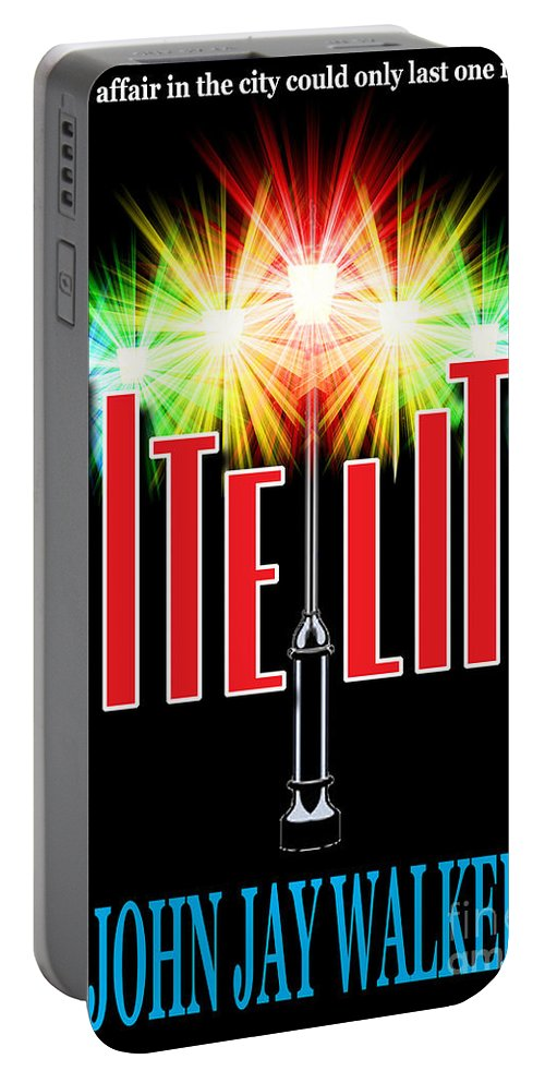 Book Cover Portable Battery Charger featuring the photograph Nite Lite Book Cover by Mike Nellums