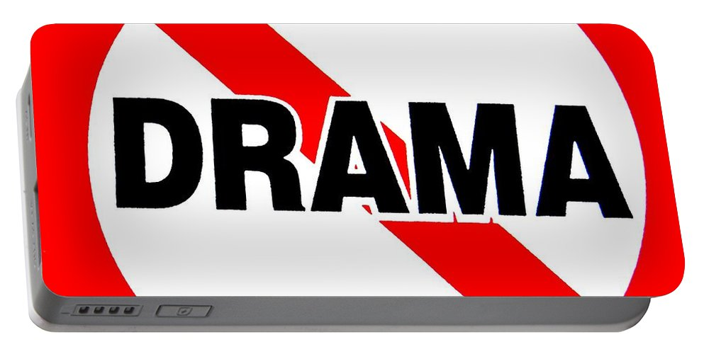 Pop Art Portable Battery Charger featuring the photograph No Drama by Ed Weidman