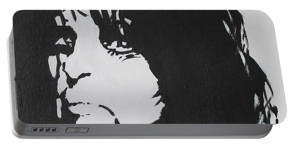 Alice Cooper Portable Battery Charger featuring the painting No More Mr Nice Guy by John Halliday