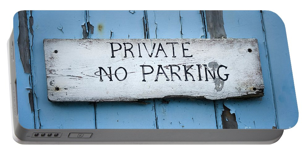 No Parking Portable Battery Charger featuring the photograph No Parking Sign by Lee Avison