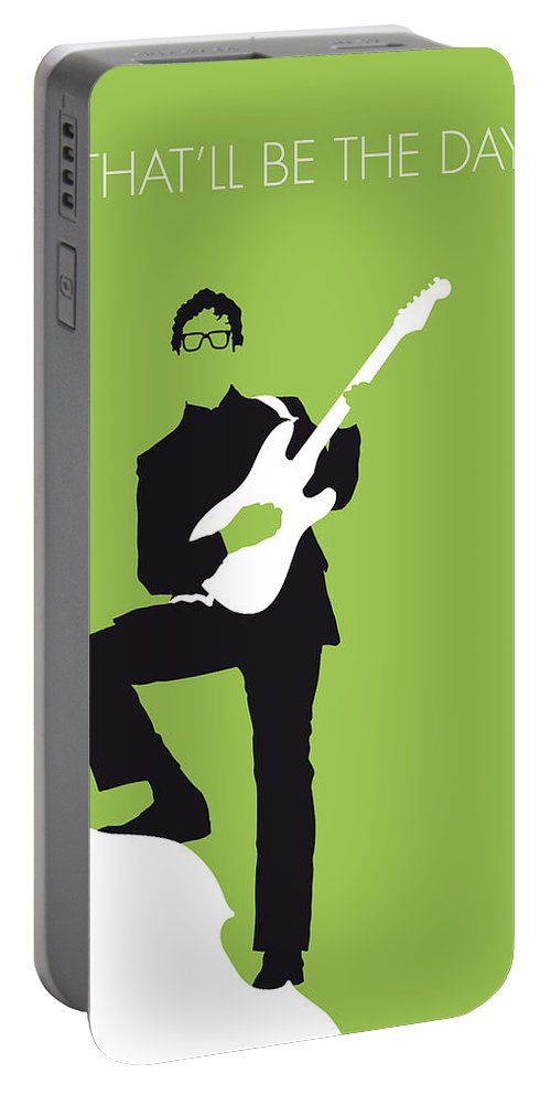 Buddy Portable Battery Charger featuring the digital art No056 MY BUDDY HOLLY Minimal Music poster by Chungkong Art