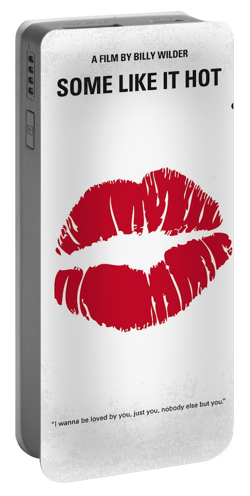 Some Portable Battery Charger featuring the digital art No116 My Some Like It Hot Minimal Movie Poster by Chungkong Art