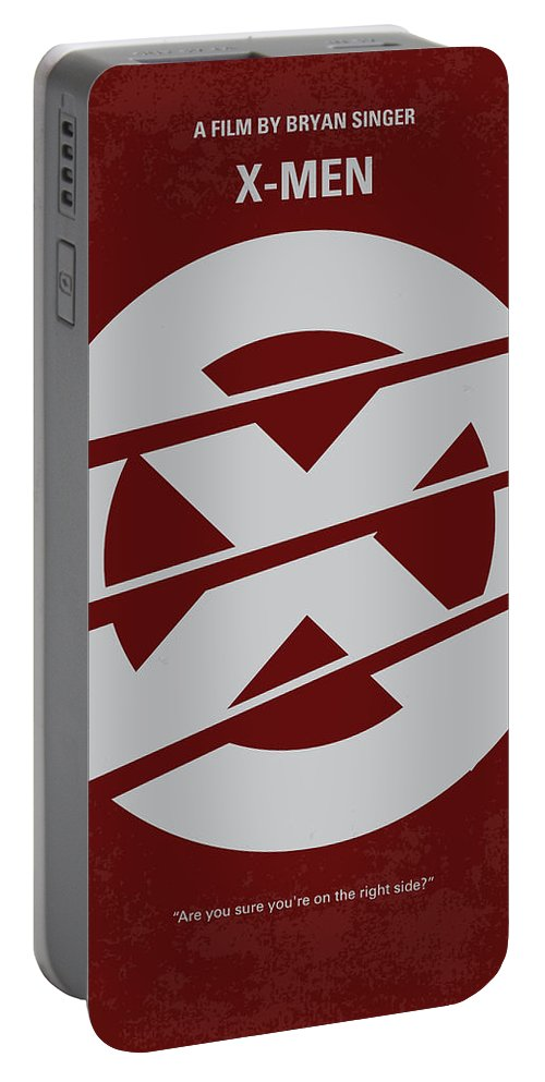 Xmen Portable Battery Charger featuring the digital art No123 My Xmen Minimal Movie Poster by Chungkong Art