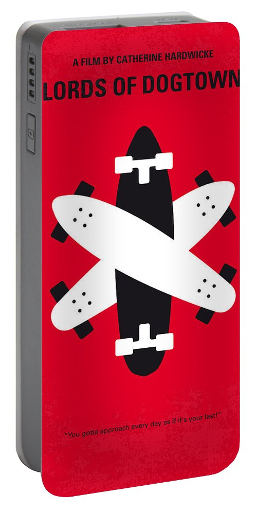 Lords Portable Battery Charger featuring the digital art No188 My The Lords Of Dogtown Minimal Movie Poster by Chungkong Art