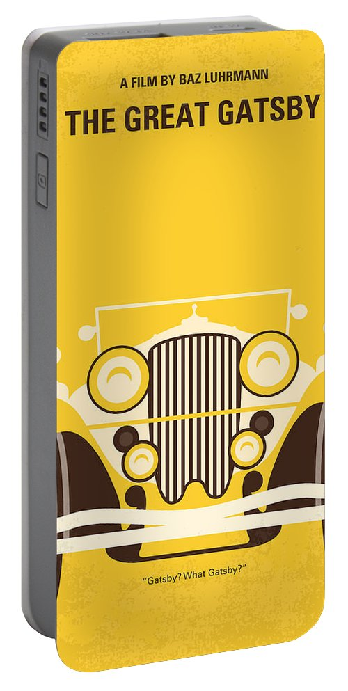 The Portable Battery Charger featuring the digital art No206 My The Great Gatsby minimal movie poster by Chungkong Art