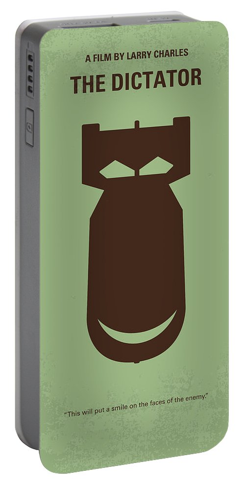 The Portable Battery Charger featuring the digital art No212 My The Dictator Minimal Movie Poster by Chungkong Art