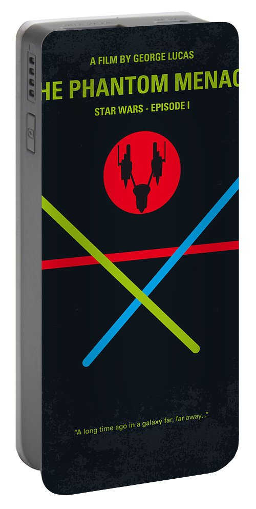 Star Portable Battery Charger featuring the digital art No223 My Star Wars Episode I The Phantom Menace Minimal Movie Poster by Chungkong Art