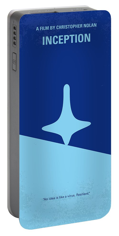 Inception Portable Battery Charger featuring the digital art No240 My Inception minimal movie poster by Chungkong Art