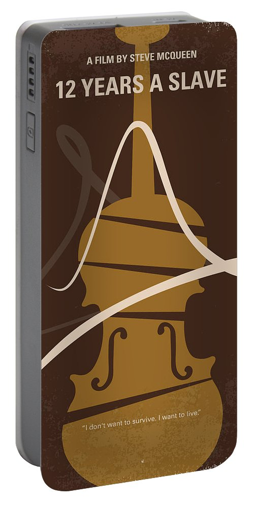 12 Years Portable Battery Charger featuring the digital art No268 My 12 Years A Slave Minimal Movie Poster by Chungkong Art
