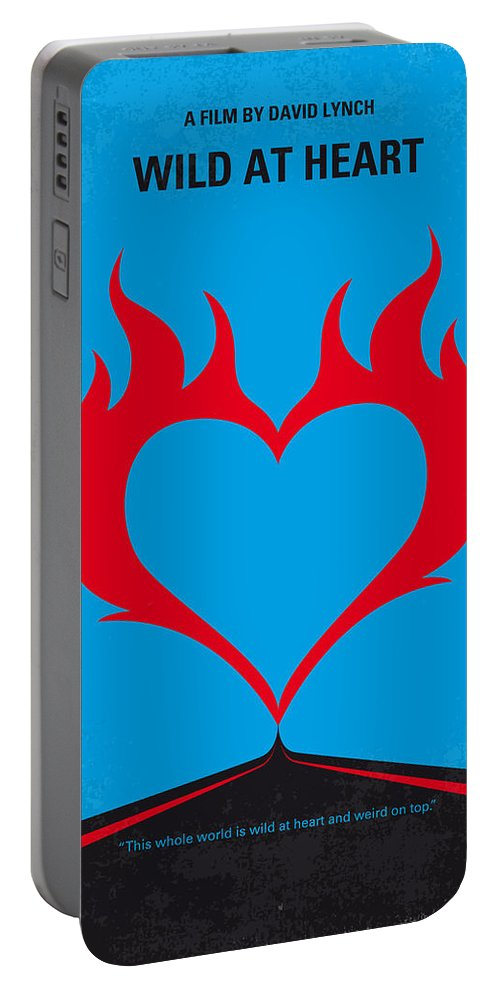 Wild Portable Battery Charger featuring the digital art No337 My Wild At Heart Minimal Movie Poster by Chungkong Art