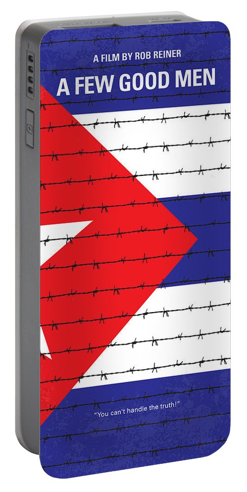 A Portable Battery Charger featuring the digital art No417 My A Few Good Men Minimal Movie Poster by Chungkong Art