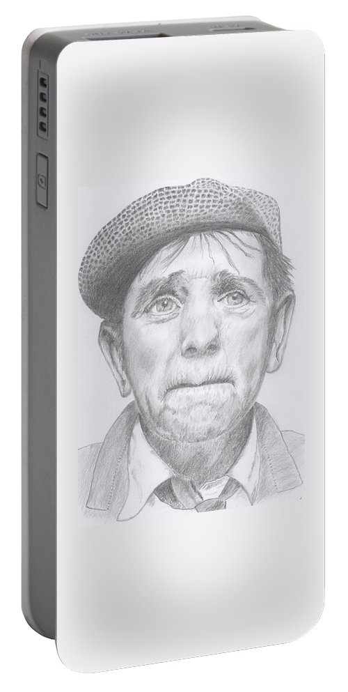 Norman Wisdom. Portable Battery Charger featuring the drawing Norman Wisdom by Keith Miller