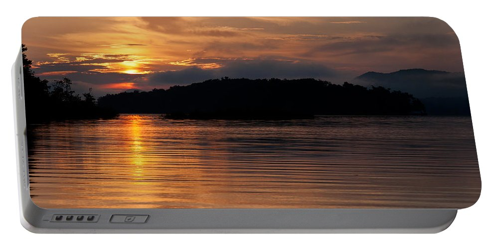 Sunrise Portable Battery Charger featuring the photograph Norris Lake Sunrise by Douglas Stucky