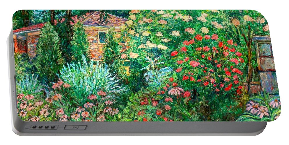 Garden Portable Battery Charger featuring the painting North Albemarle In Mclean Va by Kendall Kessler