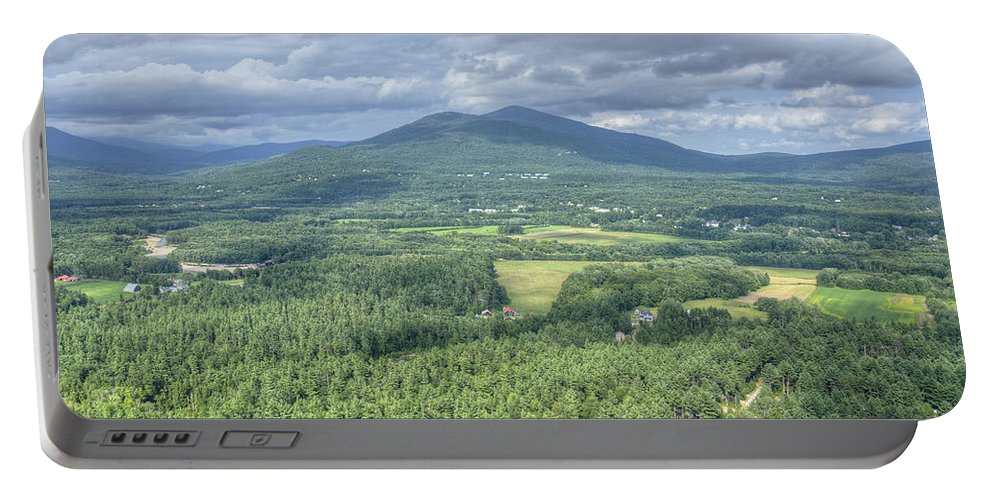 Cathedral Ledge Portable Battery Charger featuring the photograph North Conway Vista by Donna Doherty