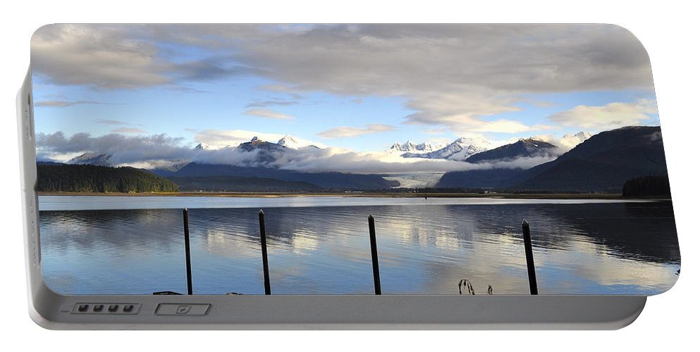 Ocean Portable Battery Charger featuring the photograph North Douglas Reflections by Cathy Mahnke