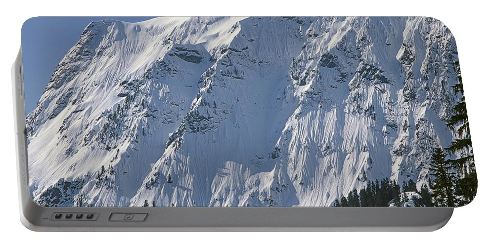 North Face Big Four Mountain Portable Battery Charger featuring the photograph 1m4443-north Face Of Big Four Mountain by Ed Cooper Photography