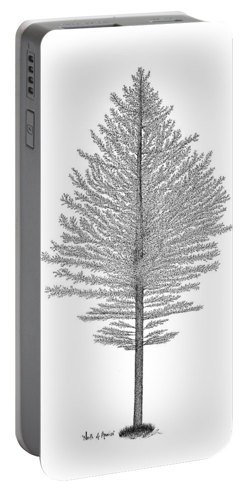 Tree Portable Battery Charger featuring the drawing North Of America by Andrea Currie