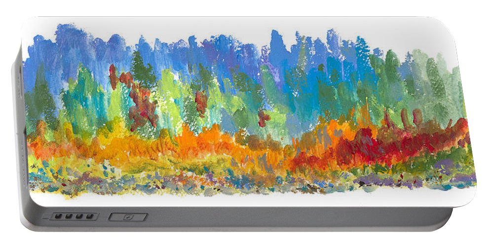 Contemporary Portable Battery Charger featuring the painting Northern Shore by Bjorn Sjogren