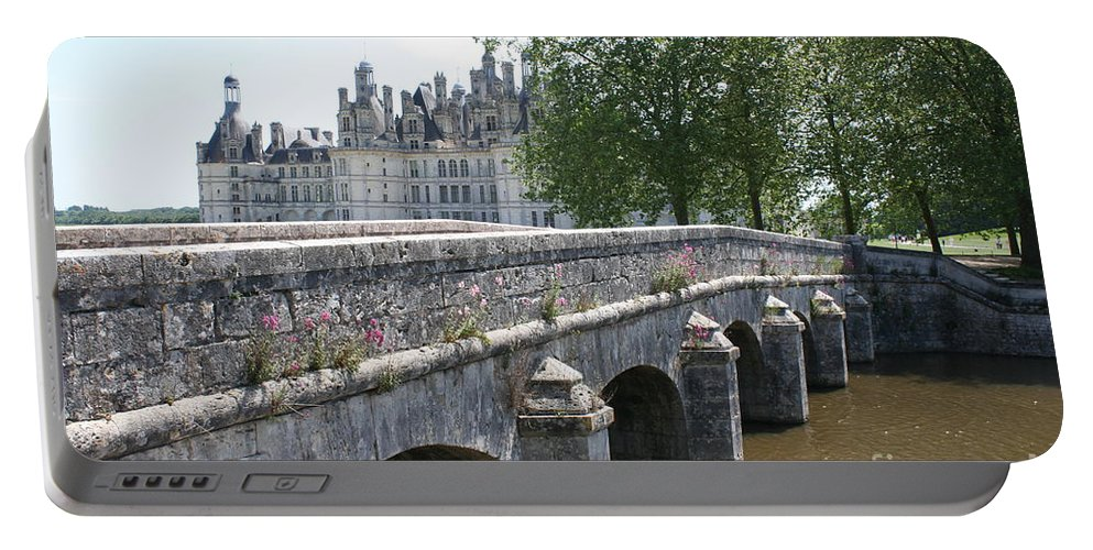 Palace Portable Battery Charger featuring the photograph Northwest Facade Of The Chateau De Chambord by Christiane Schulze Art And Photography