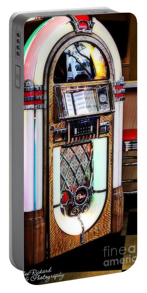 Acrylic Prints Portable Battery Charger featuring the photograph Nostalgic Juke Box by Bobbee Rickard
