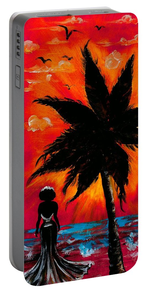 Water Portable Battery Charger featuring the photograph Nothing and Everthing by Artist RiA