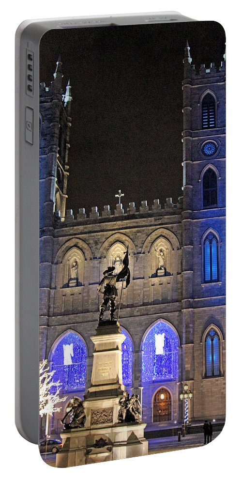 Notre-dame Portable Battery Charger featuring the photograph Notre-dame Basilica Of Montreal by Munir Alawi