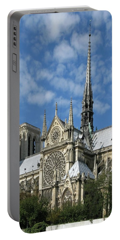 Notre Dame Portable Battery Charger featuring the photograph Notre Dame Cathedral by Ann Horn