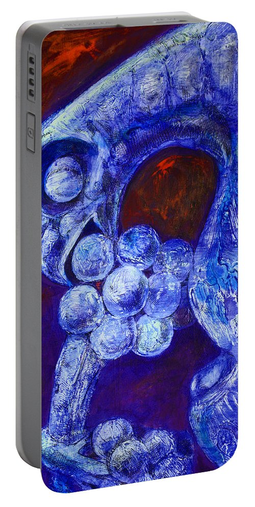 Notre Dame Portable Battery Charger featuring the painting Notre Dame Gargoyle by Derrick Higgins