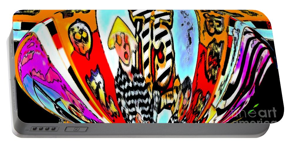 Digital Art Portable Battery Charger featuring the photograph Notre Debut Abstract by Marian Bell
