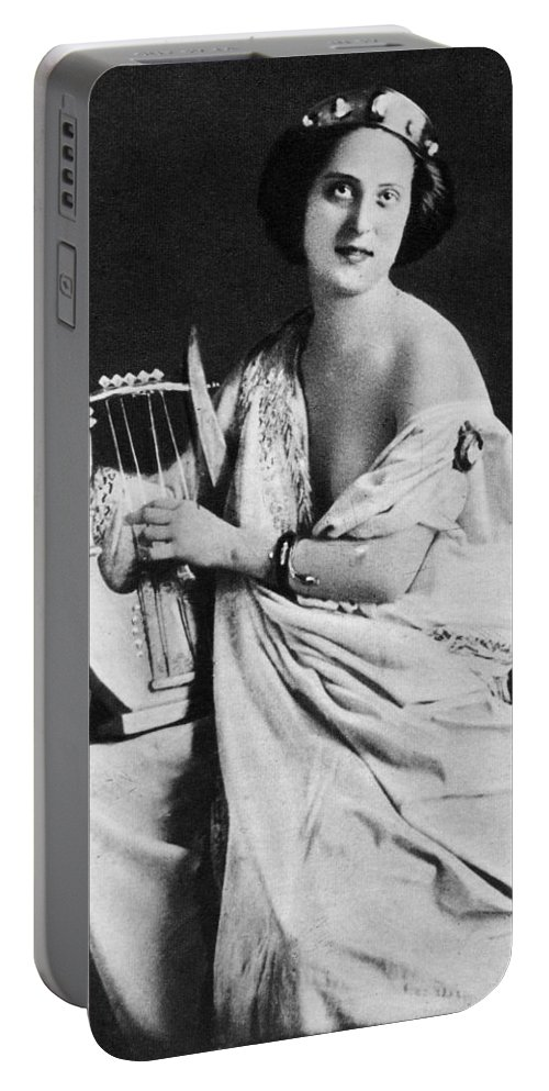 1850 Portable Battery Charger featuring the photograph Nude As Ancient Lyrist by Granger