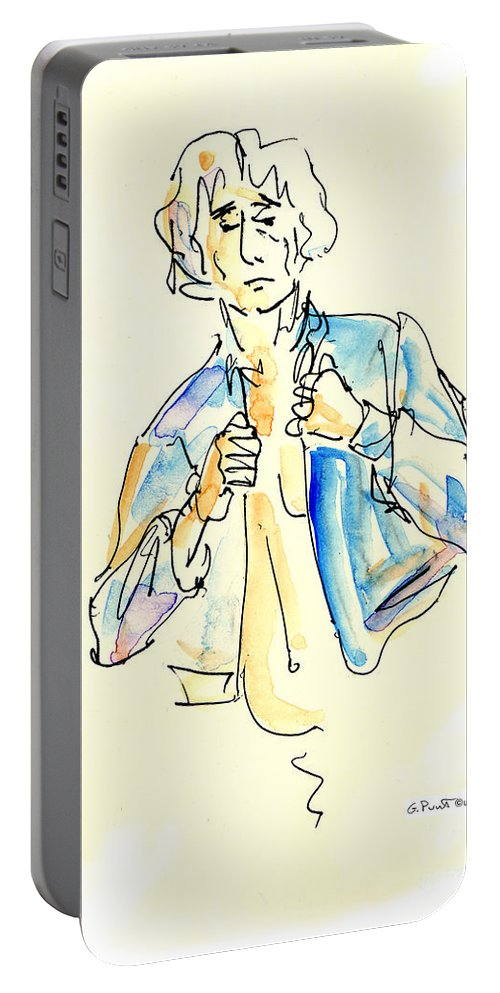 Male Portable Battery Charger featuring the painting Nude Male Drawings 4w by Gordon Punt