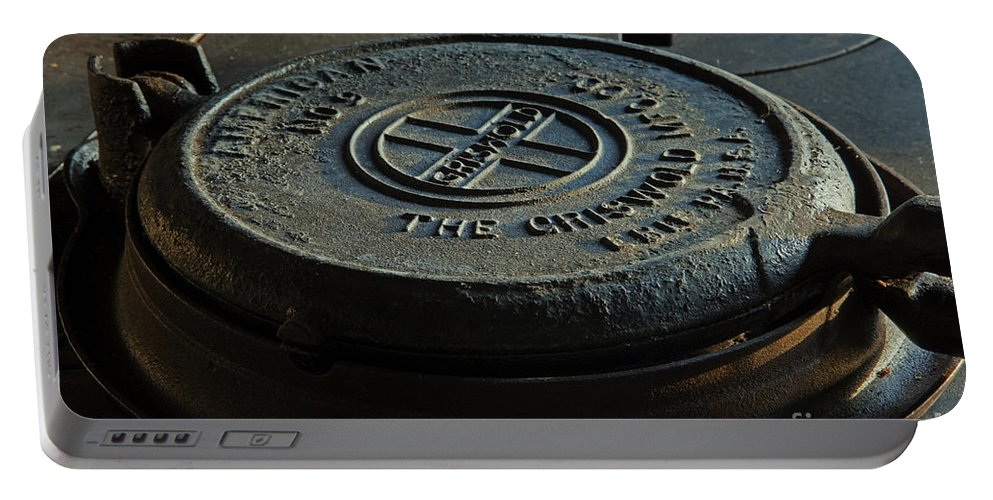 Waffle Iron Portable Battery Charger featuring the photograph Number 9 by John Stephens