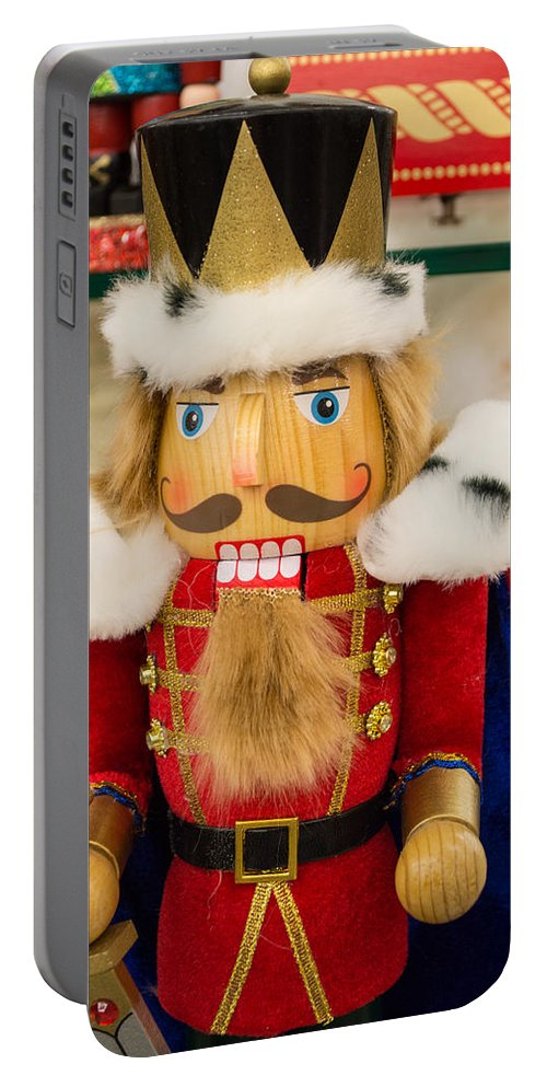 Nutcracker Portable Battery Charger featuring the photograph Nutcracker Prince by JG Thompson