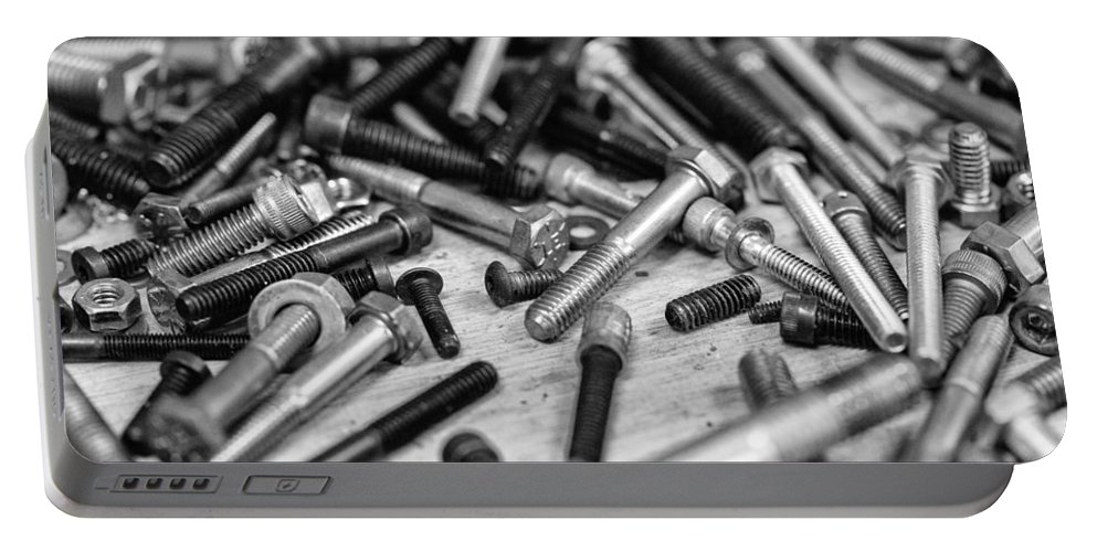 Nuts And Bolts Portable Battery Charger featuring the photograph Nuts And Bolts by Robert Hayton